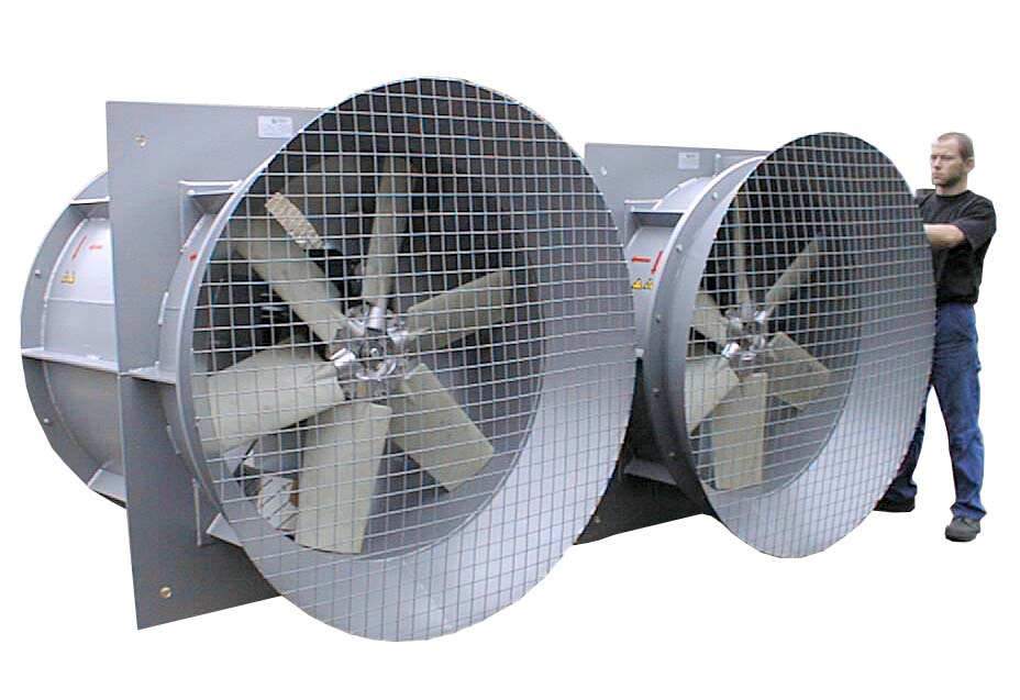 Two large Axial fans