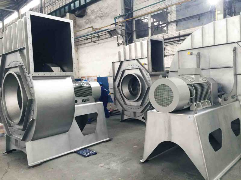 Centrifugal fans in stainless steel