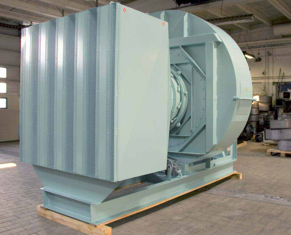 Centrifugal fan for marine with silencer